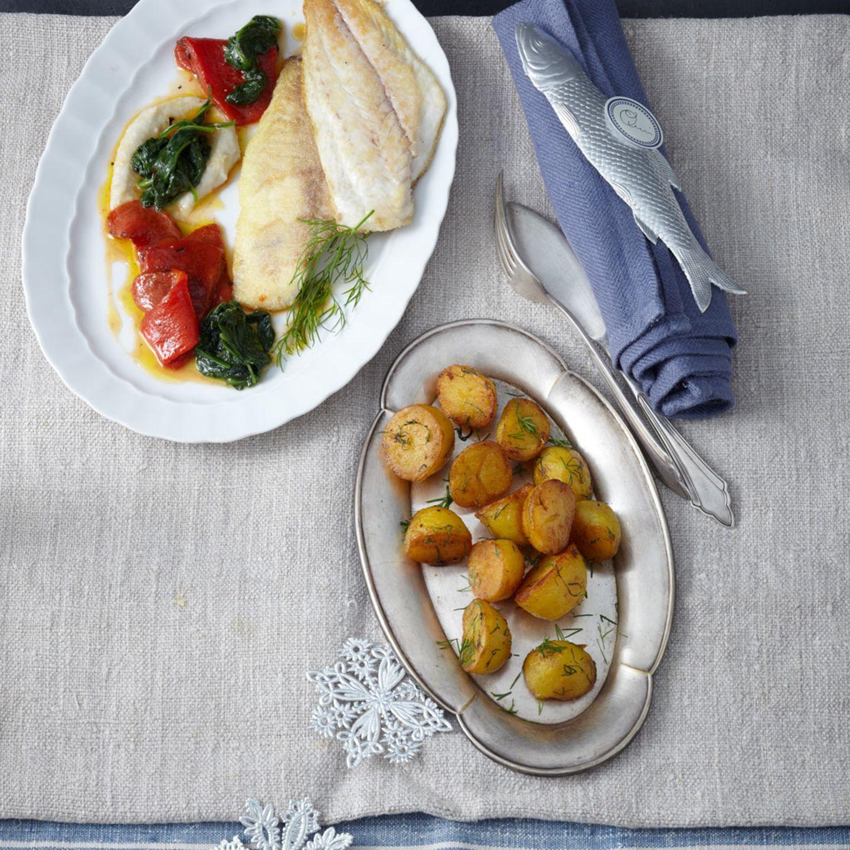 Menü: Mit Fischmousse und Dorade