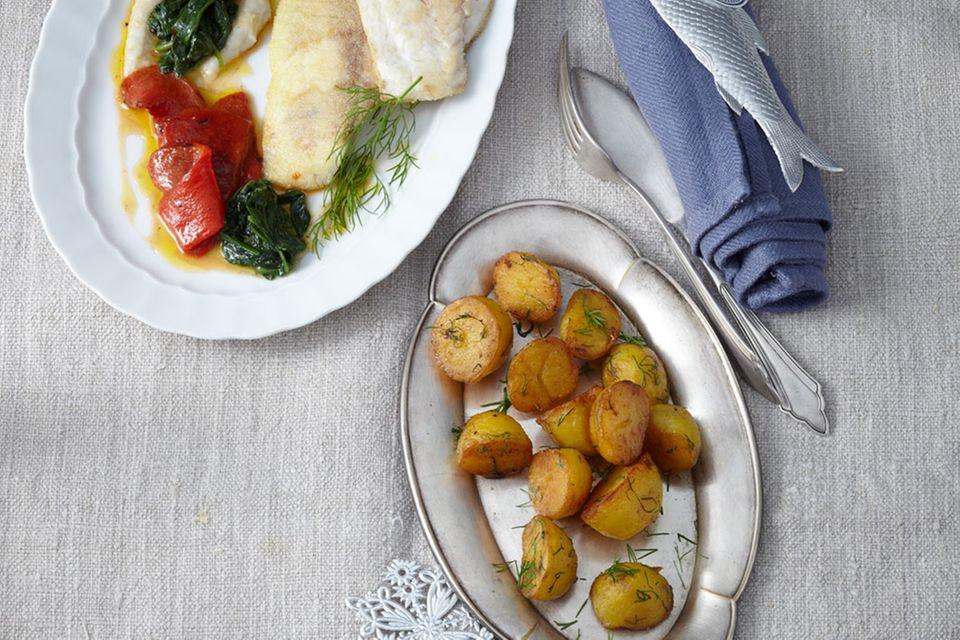 Menü-Planer: Menü mit Fischmousse und Dorade