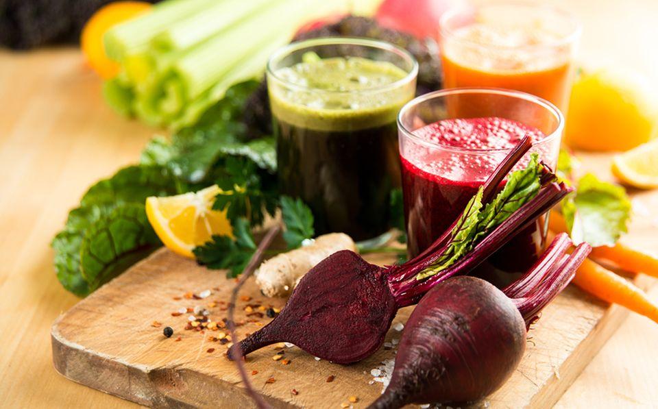 Gemüse- und Obstsäfte