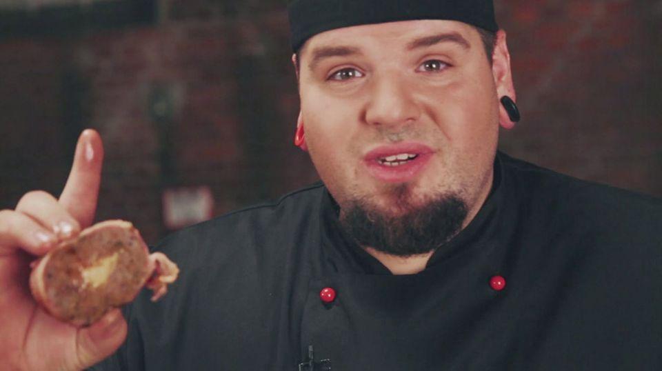 Pefekt gegart: Marc Balduans Bacon Bomb ist bereit für die Geschmacks-Explosion.
