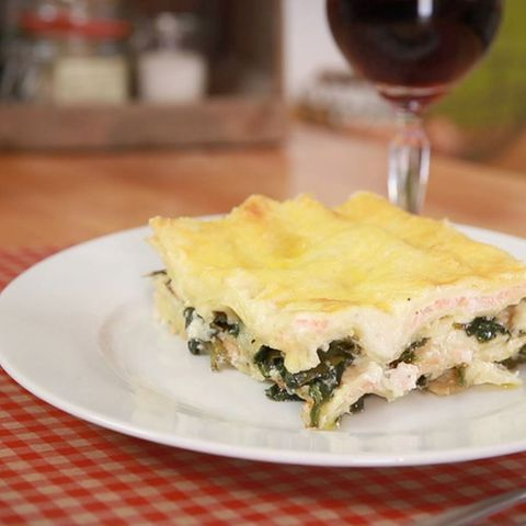 Lachs-Spinat-Lasagne von Fabio Haebel