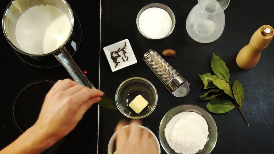 Béchamel-Sauce eignet sich perfekt für Aufläufe.