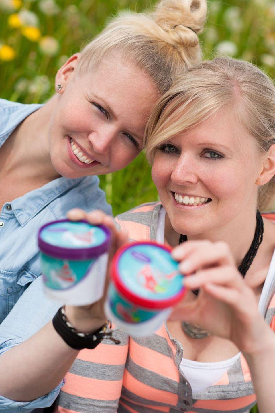 Stella Peters und Kaja Ringert gründeten Mien fro'Natur frozen Yogurt