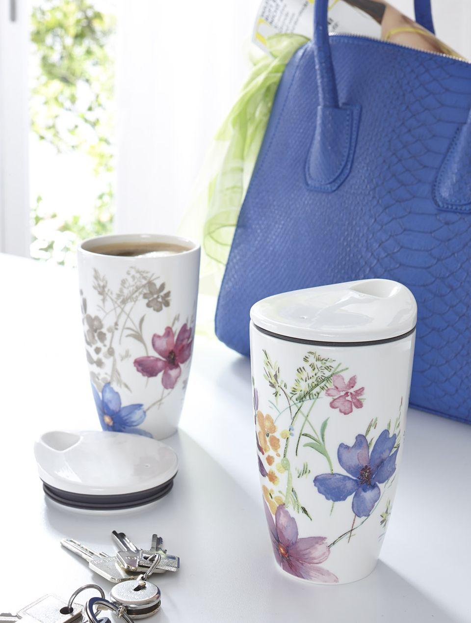 Perfekt für unterwegs: Coffee-to-go-Becher aus Porzellan