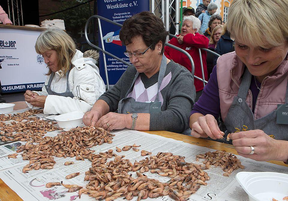 Auch dieses Jahr wird wieder gepult: Husumer Krabbentage 2014 mit Krabbenpul-Meisterschaft