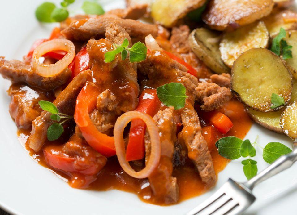 Herzhaft und mit fleischähnlicher Konsistenz: Seitan-Geschnetzeltes