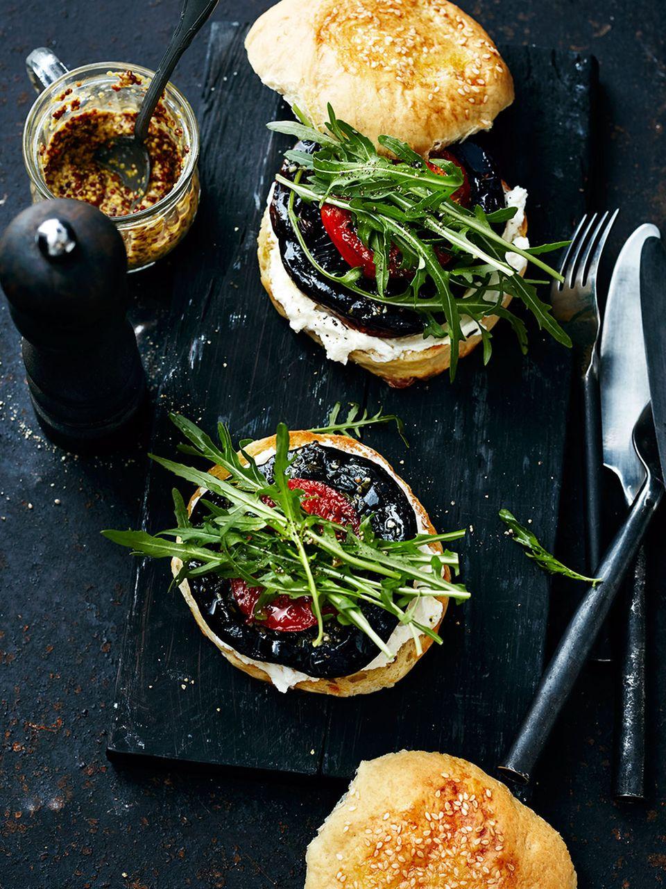 Die berühmten Portobello-Pilze eignen sich toll als fleischlose Patties