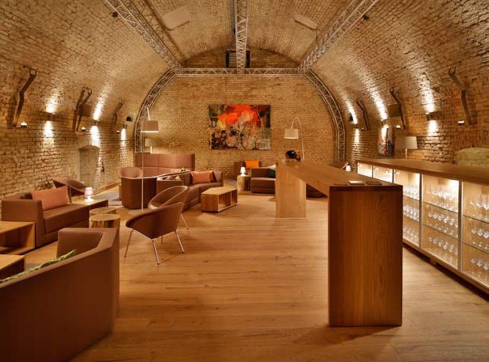 Die Klublounge im Tresor Vinum in Pullach