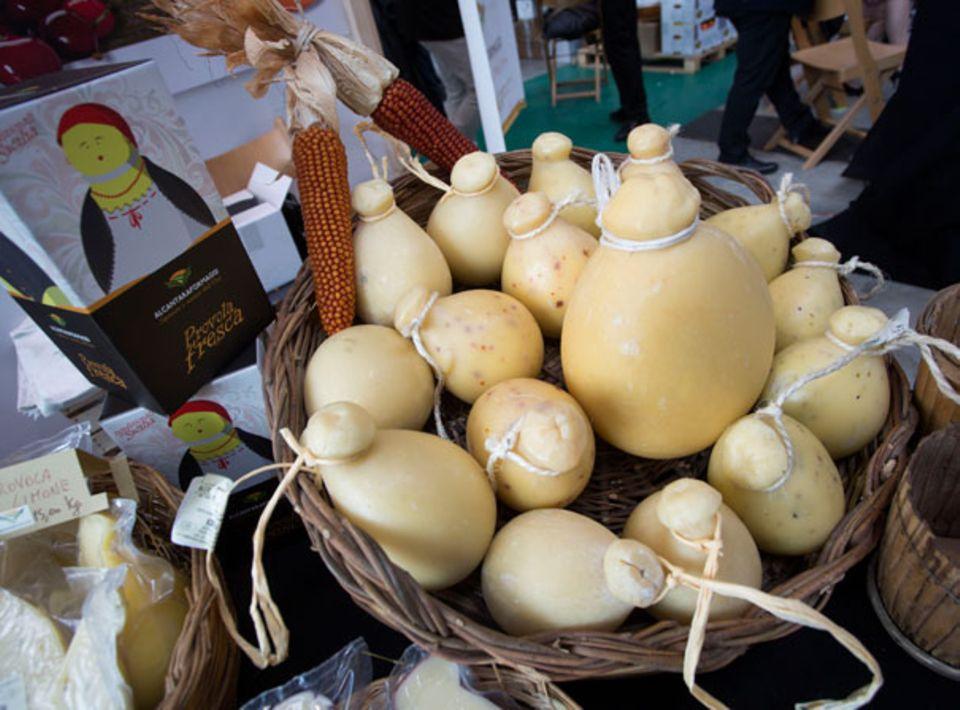 Käse des Ausstellers Parco Fluviale dell´Alcantara auf der Slow Food Messe Stuttgart