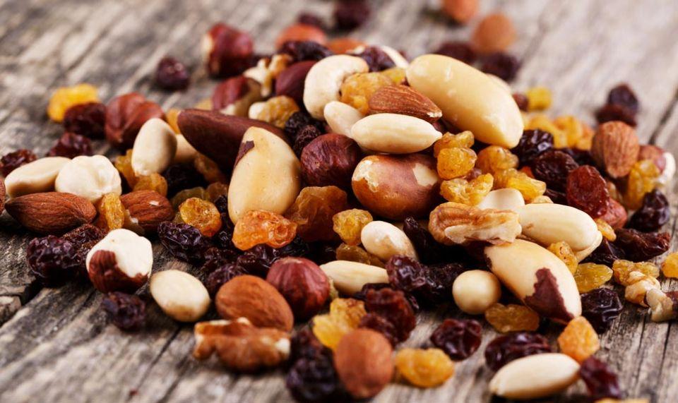 Ideal als Snack geeignet: verschiedene Nusskerne