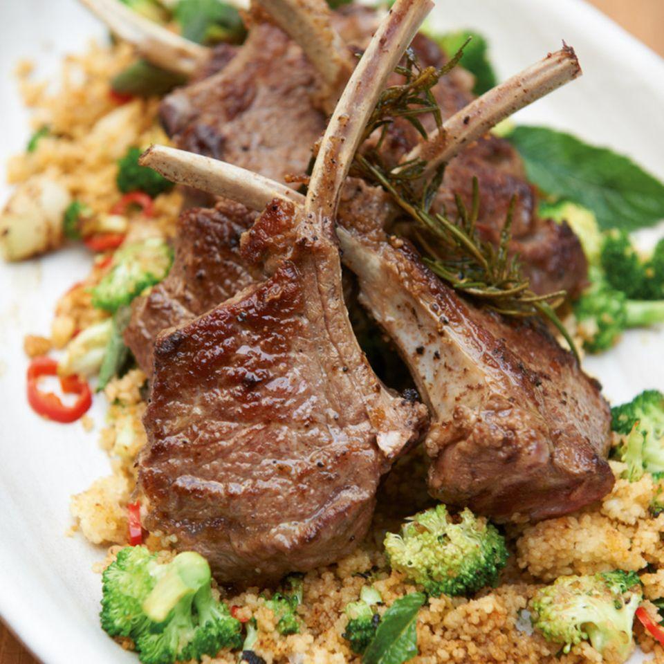 Broccoli mit Fleisch