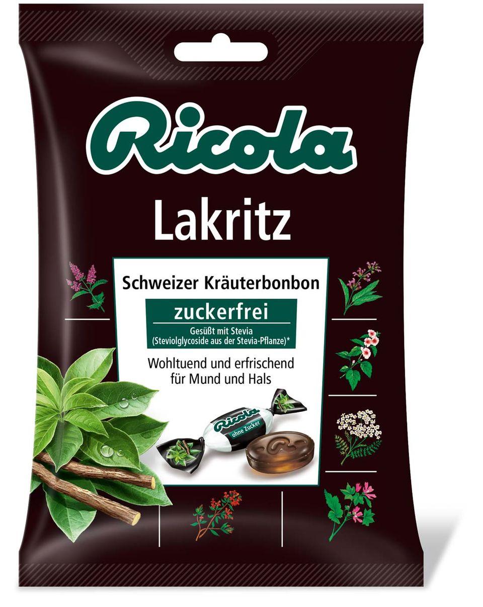 Für Lakritzfans: Ricola Bonbons mit Stevia
