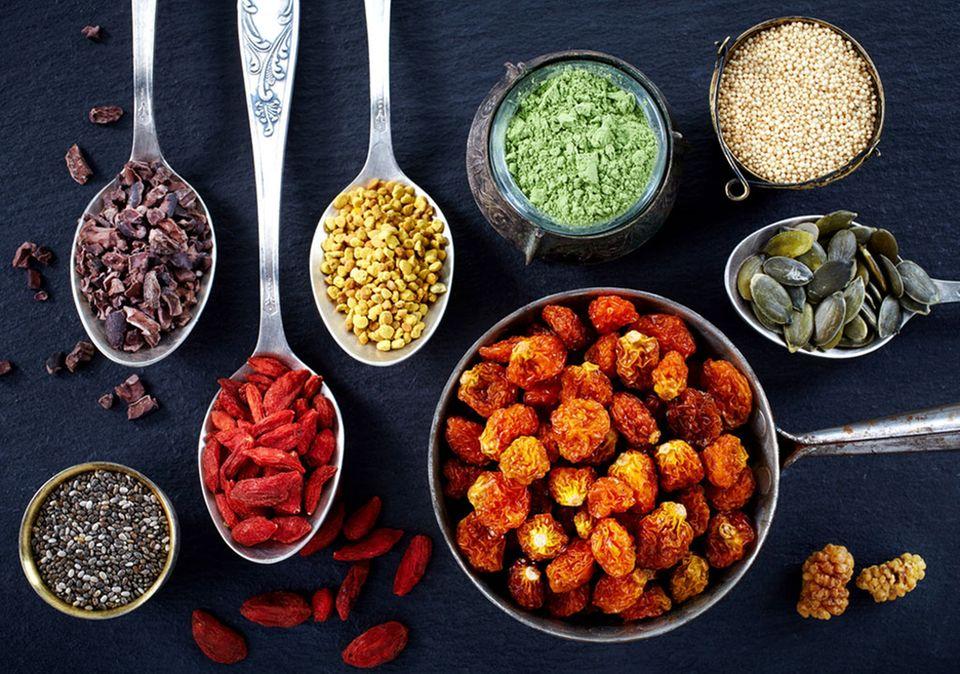 """Goji-Beeren, Matcha, Chia-Samen oder Kürbiskerne gehören zum sogenannten """"Superfood"""""""