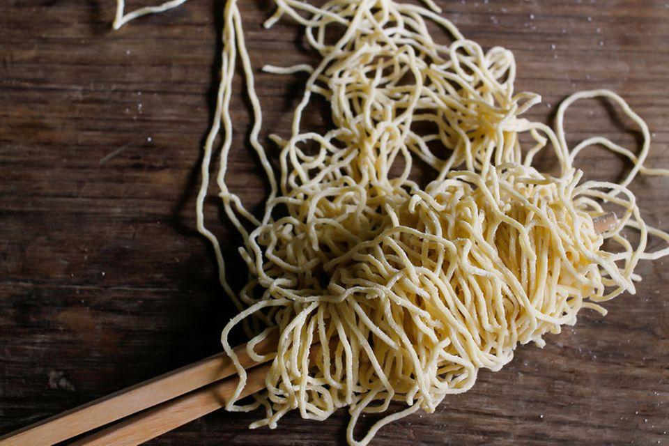 Ramen-Nudeln schmecken frisch hergestellt besonders gut