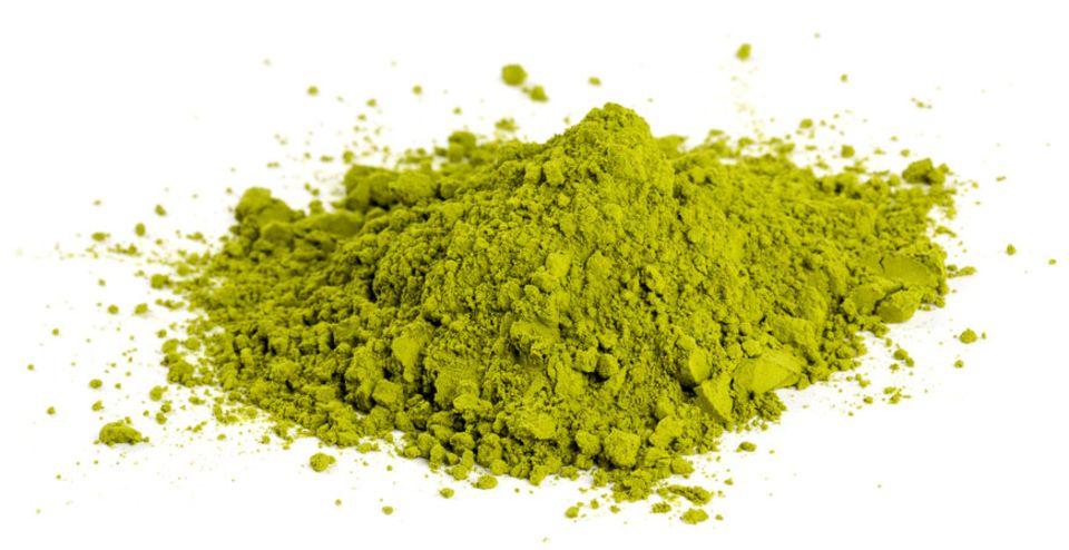 Edel und fein: grünes Matcha-Pulver
