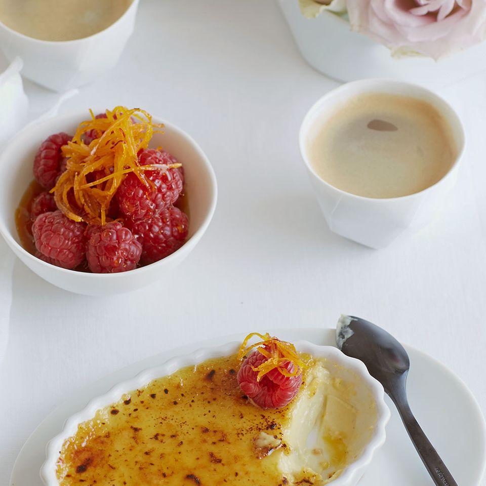 Desserts mit Himbeeren