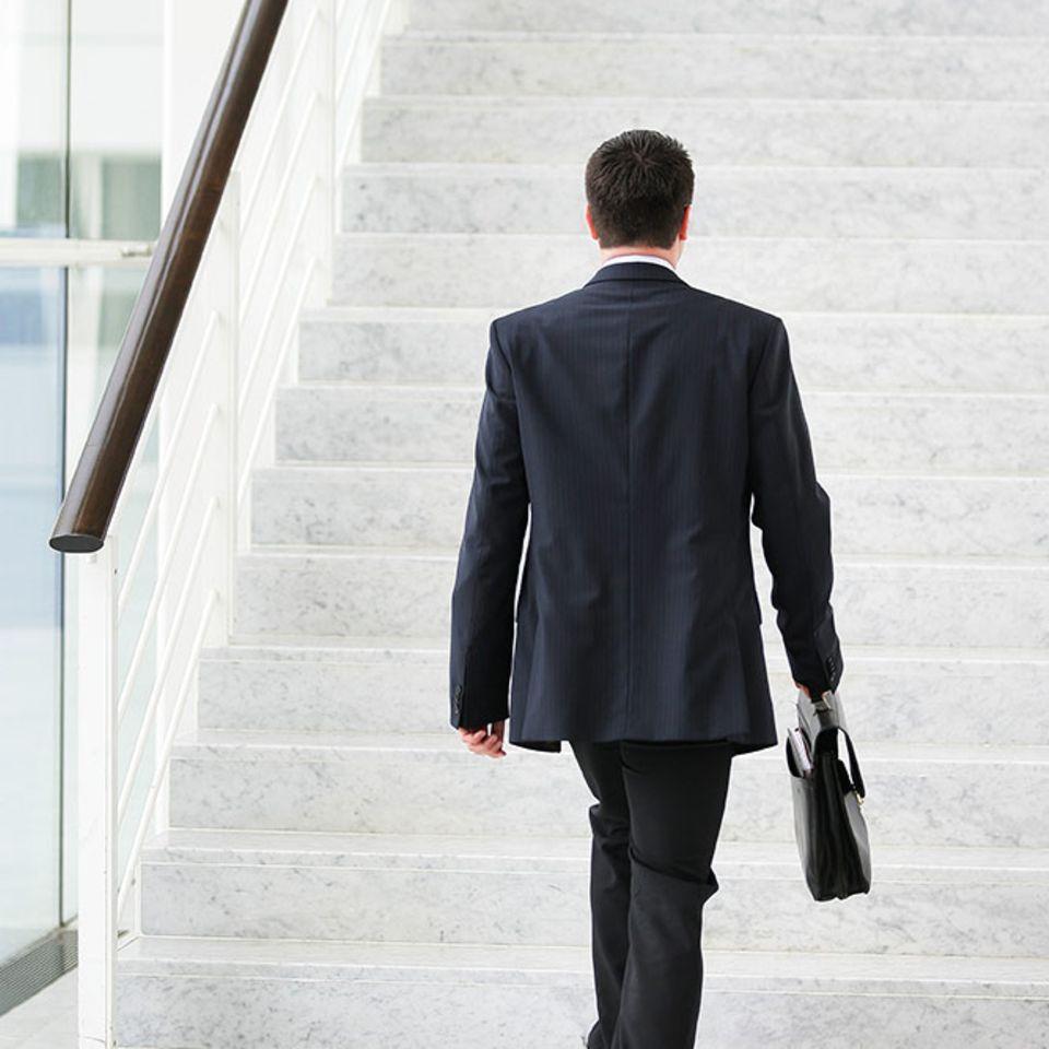 Statt des Lifts einfach immer die Treppe nehmen