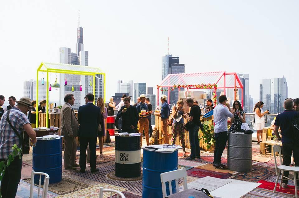 Essen und Weitblick im NEXTOWER in Frankfurt