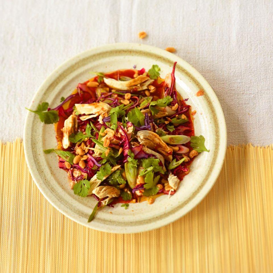 Salate mit Hähnchen