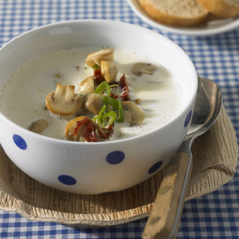Rezepte: Suppe mit Pilzen