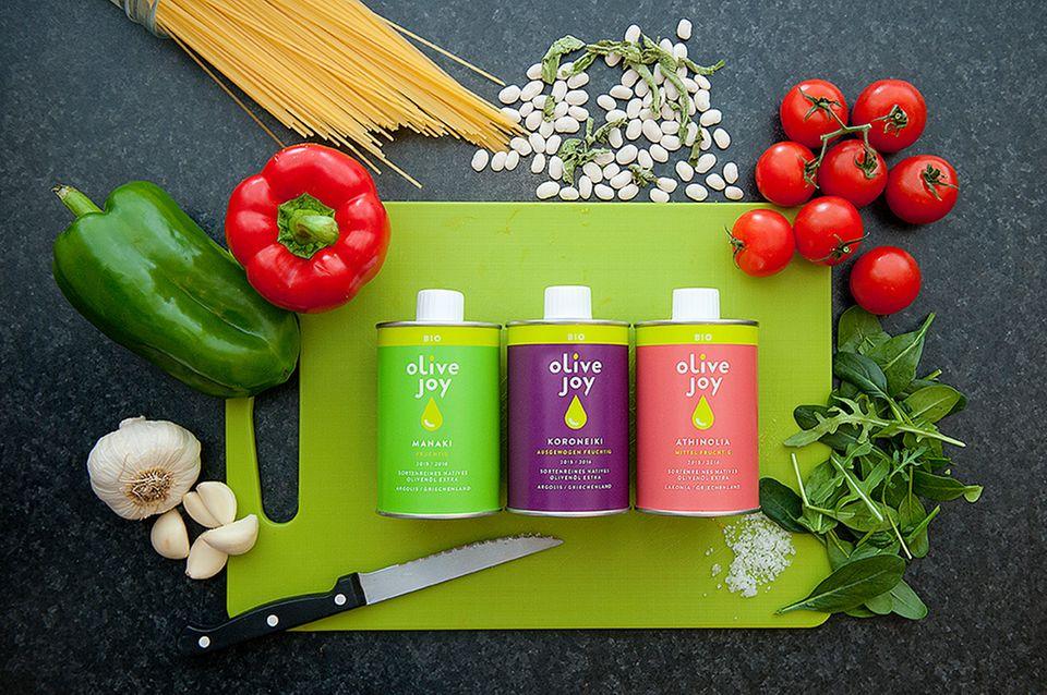 Olivenöl aus Griechenland: olive joy bietet sortenreine Öle jetzt auch in Bio-Qualität an