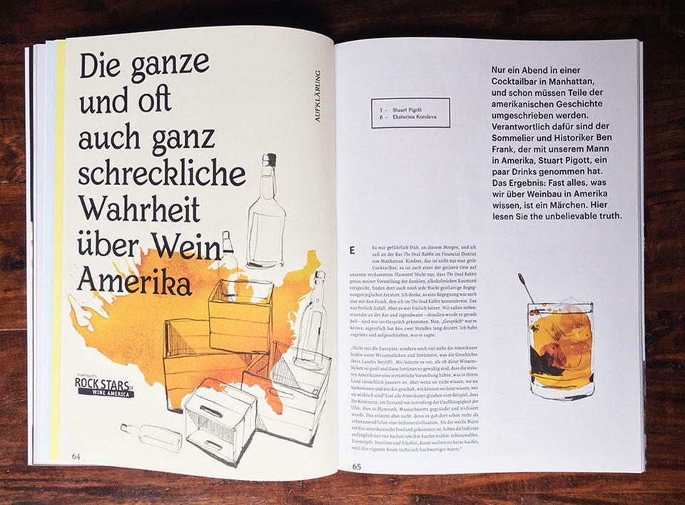 Provokant, aber fundiert: schluck hebt sich stilistisch deutlich von anderen Weinmagazinen ab