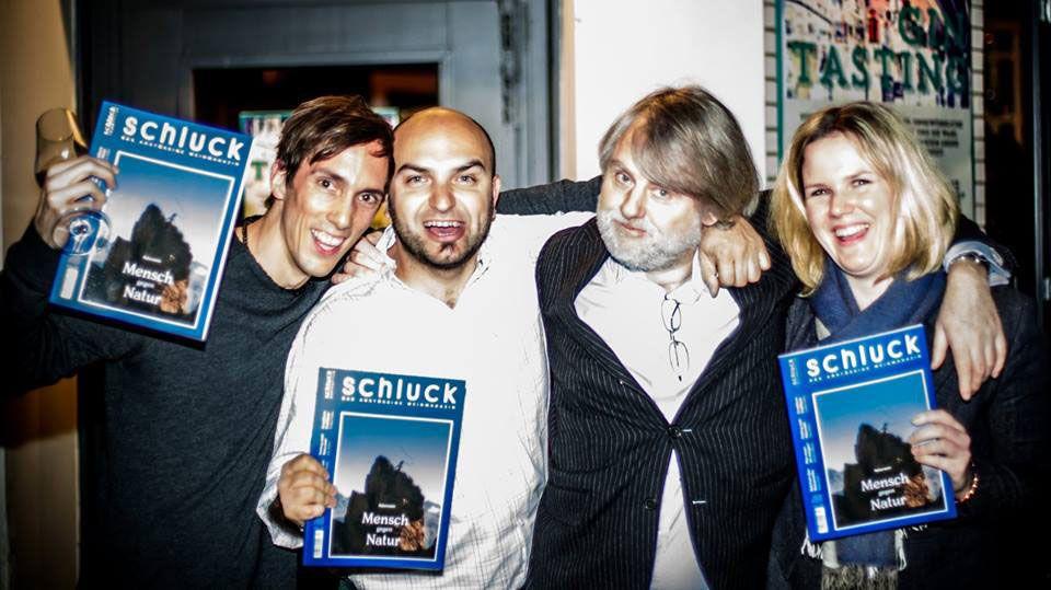 Die Herausgeber und ihr Chefredakteur (v.l.n.r.): Christian Schärmer, Paul Truszkowski, Manfred Klimek und Julia Klüber