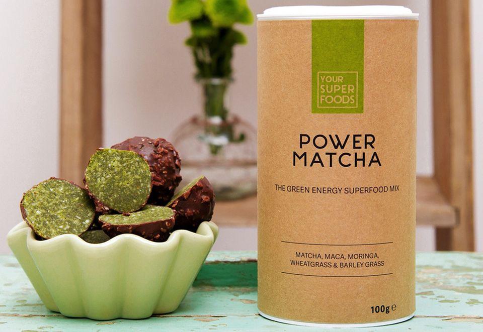 Power Matcha Balls: Kleine Energiespender
