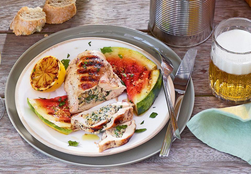 Frisch und einfach: Gefüllte Hähnchenbrust vom Grill