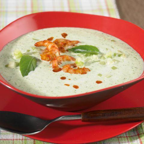 Gurken-Basilikum-Suppe