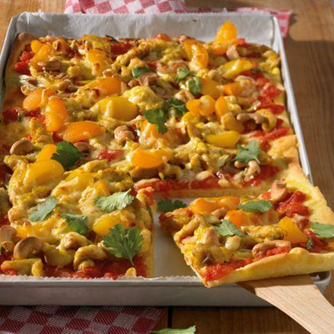 Hähnchen-Curry-Pizza