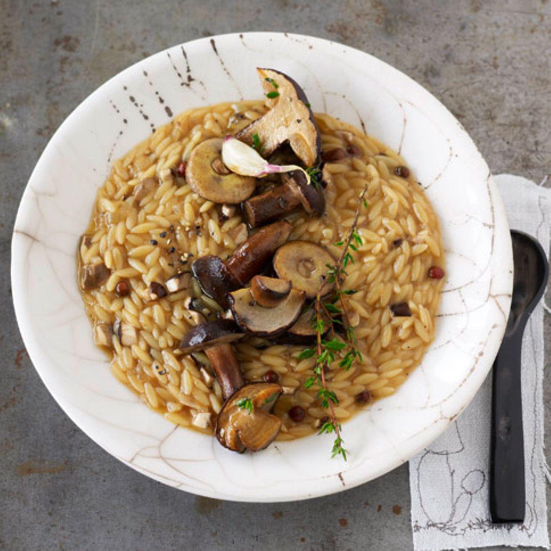 Pastasotto mit Comté und Maronen
