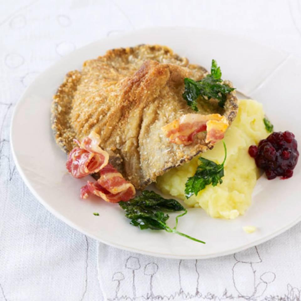 Austernpilz-Schnitzel mit Kartoffelpüree Rezept