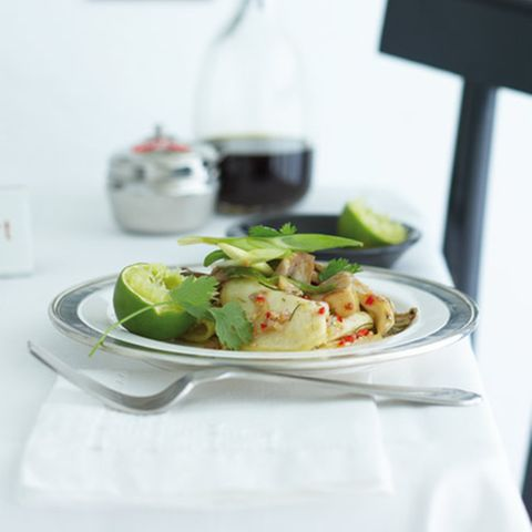 Selleriesalat mit gebratenen Austernpilzen