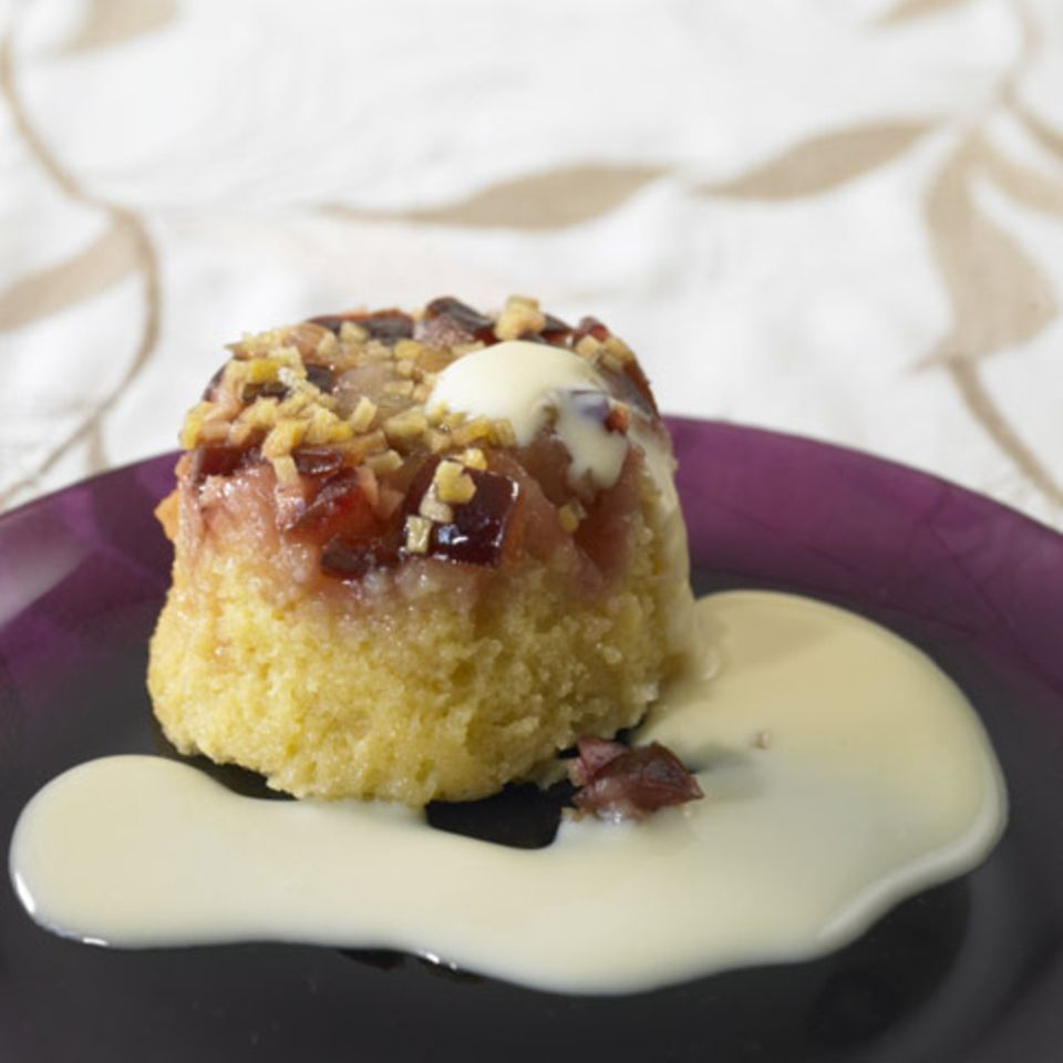 Zwetschgen-Pudding mit Ingwer
