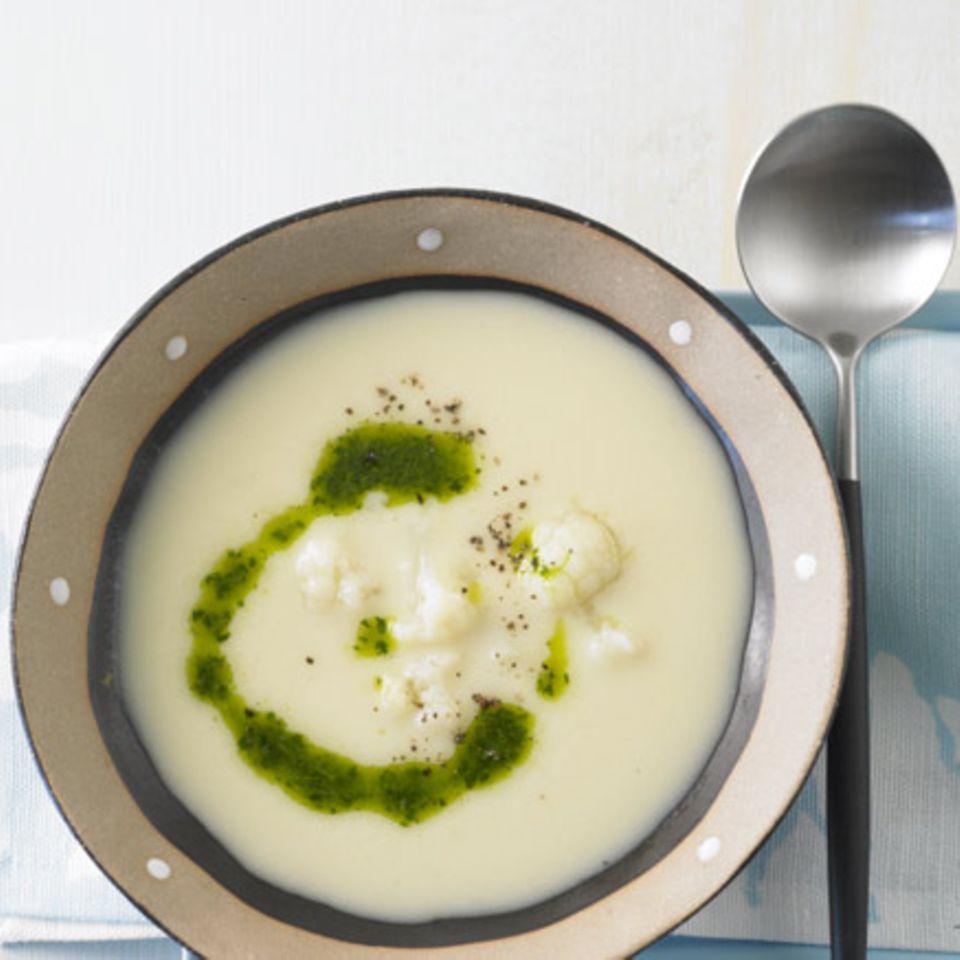 Kartoffel-Blumenkohl-Suppe
