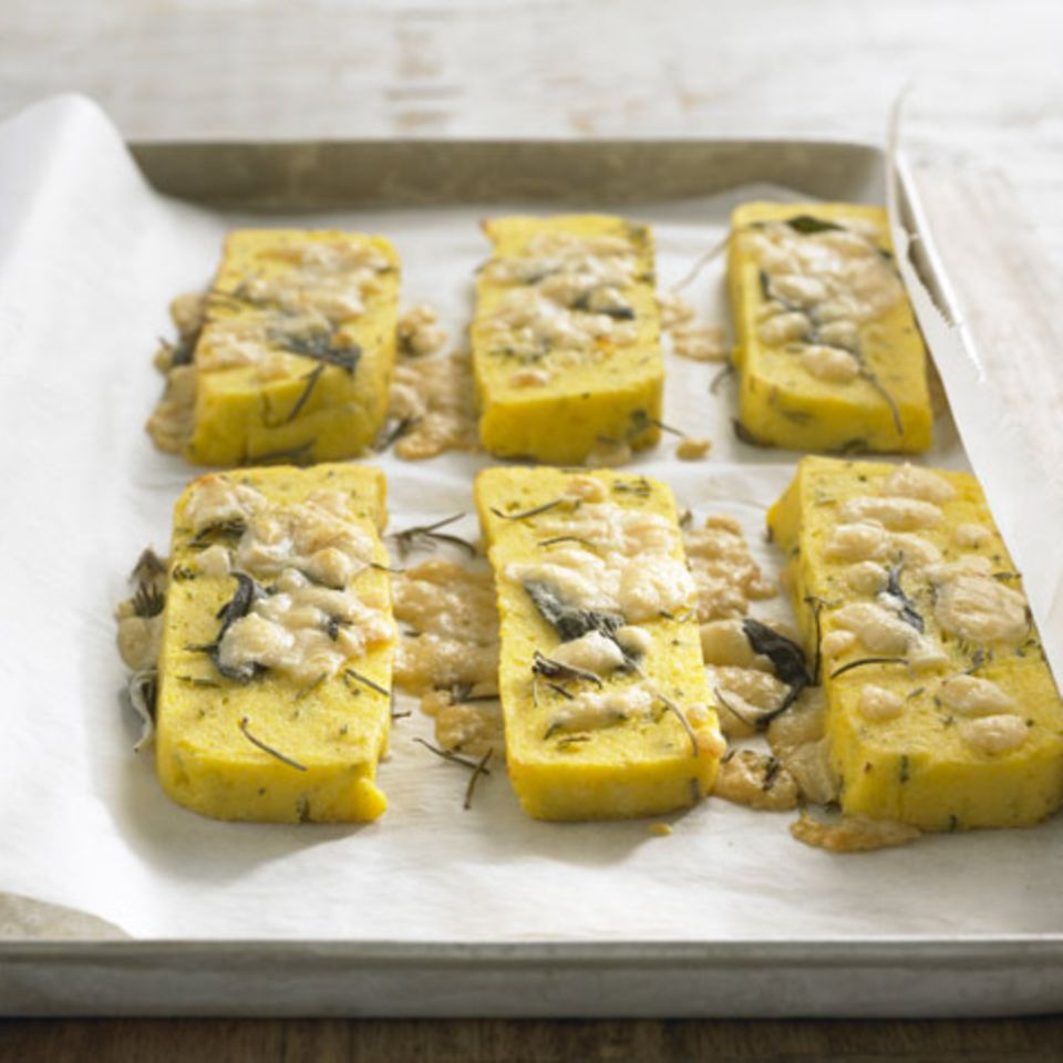 Polenta-Käse-Schnitten