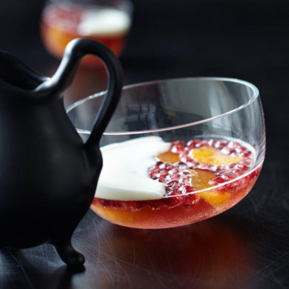 Champagnergelee mit Granatapfel