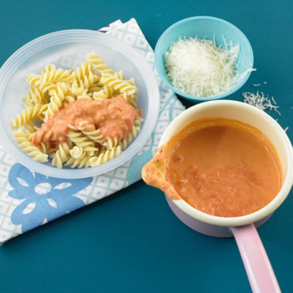 Fusilli mit Tomatenrahm Rezept