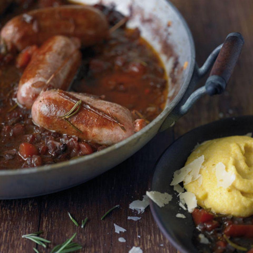 Salsicce mit Polenta