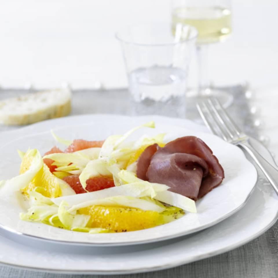 Chicoréesalat mit Rauchfleisch Rezept