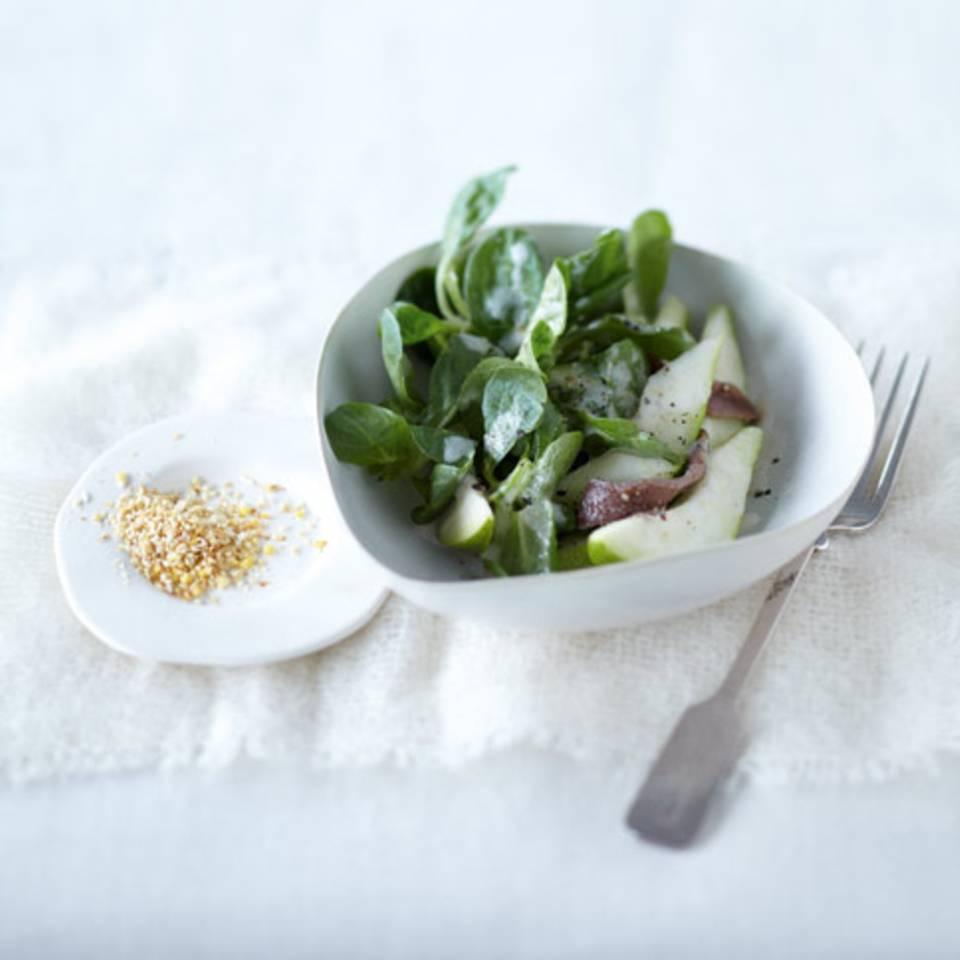 Feldsalat mit Birne Rezept