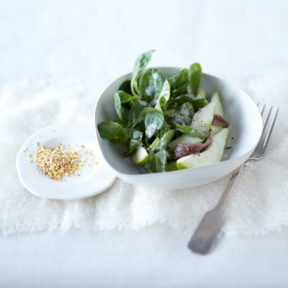 Feldsalat mit Birne