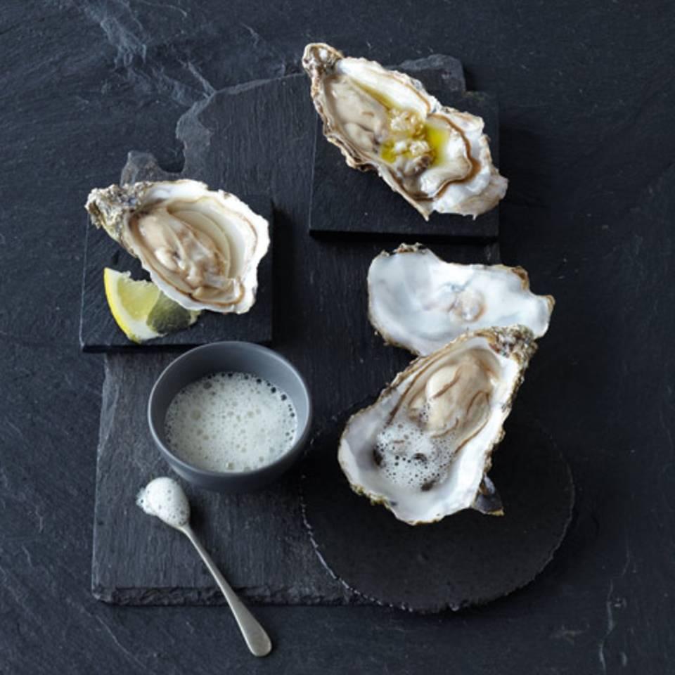Austern auf zwei Arten Rezept