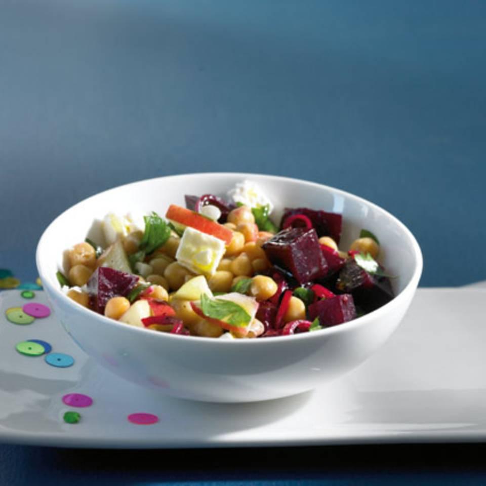 Kichererbsen-Rote-Bete-Salat Rezept