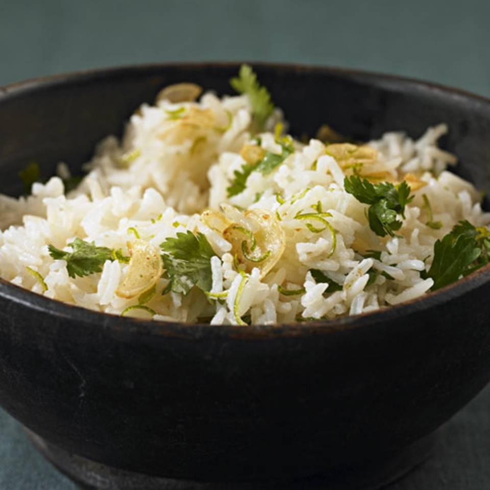 Limetten-Koriander-Reis Rezept