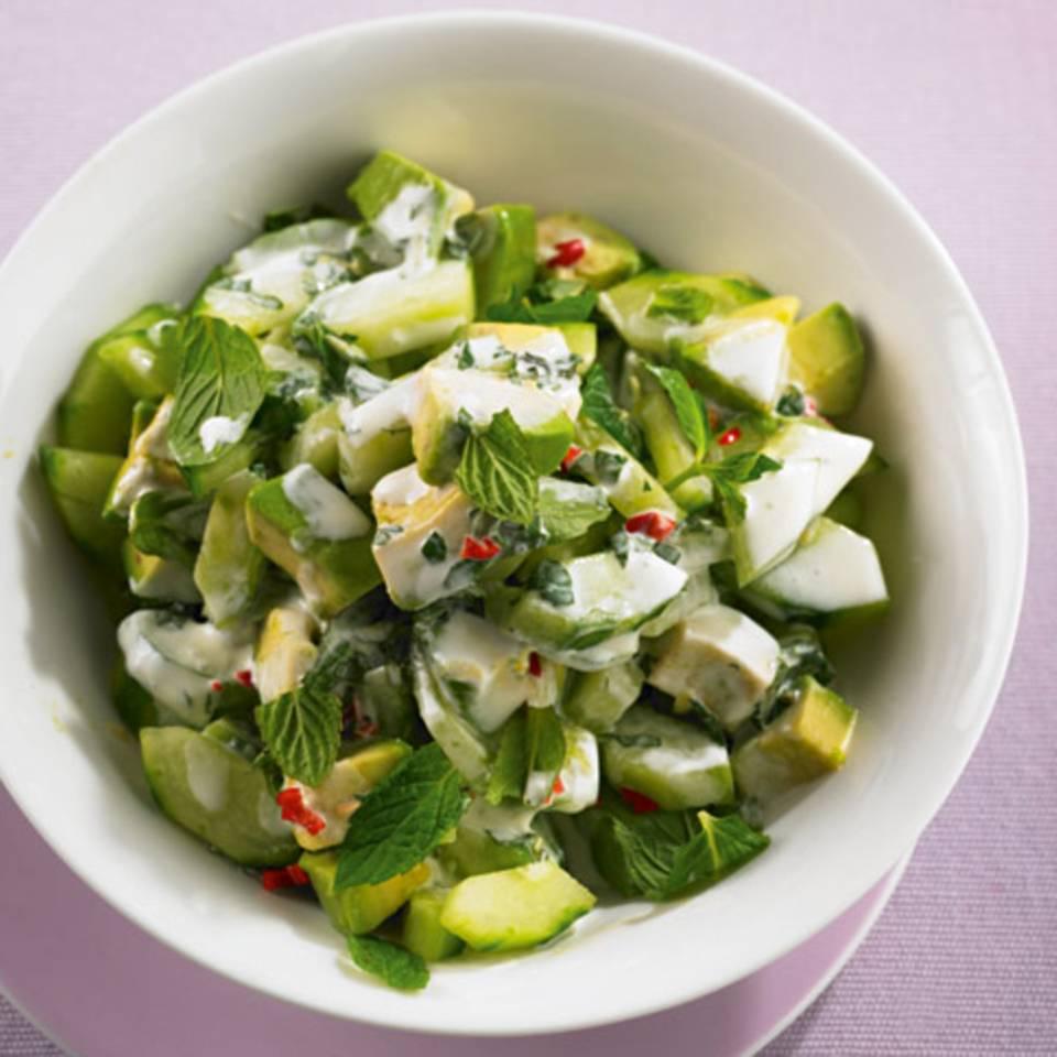 Avocado-Gurken-Salat Rezept