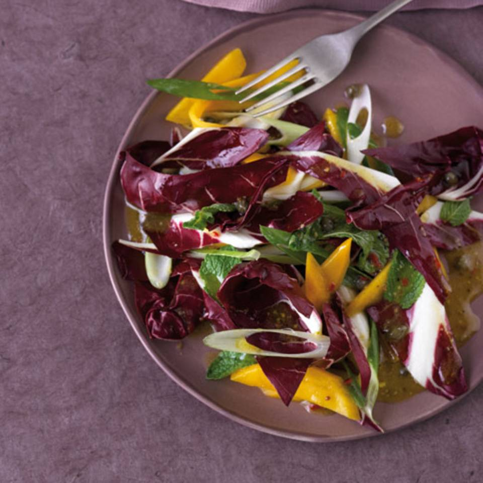 Radicchio-Salat mit Mango Rezept