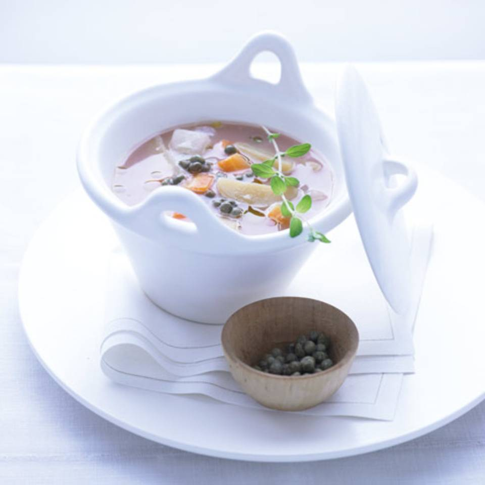 Rhabarber-Gemüse-Eintopf Rezept