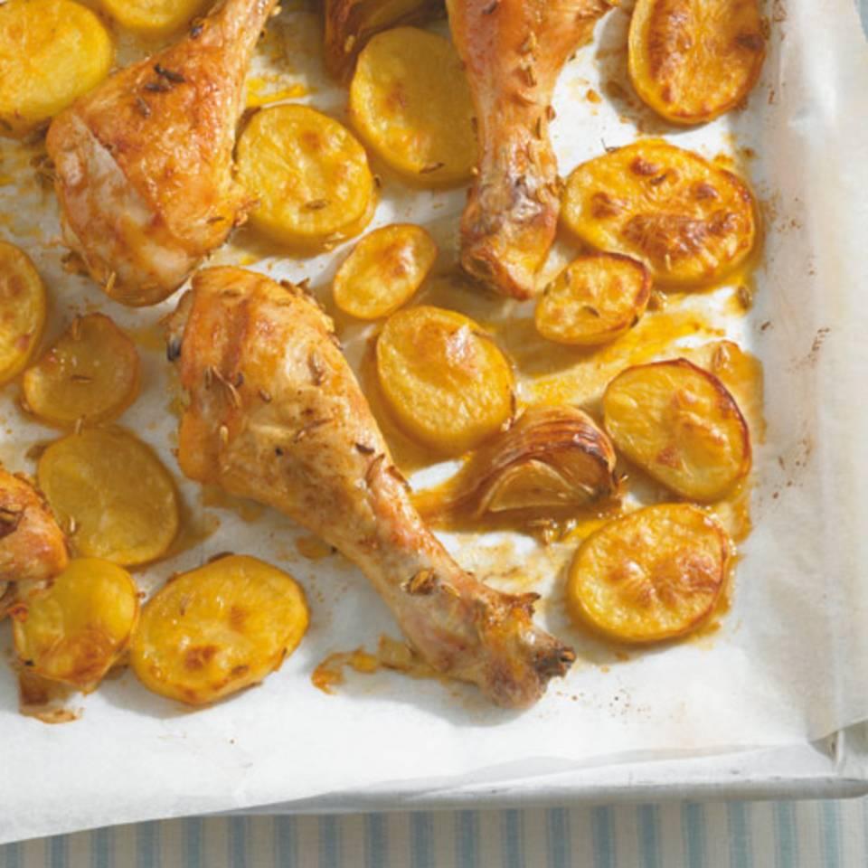 Drumsticks mit Kartoffeln Rezept